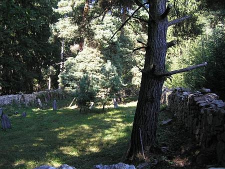 Židovský hřbitov v jeho rodných Hošticích, jejichž židovská komunita přestala existovat v roce 1899 podle zákona z roku 1890
