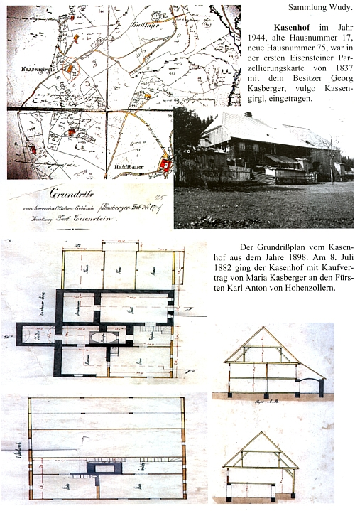 """Někdejší Kasenhof na stránce z """"jeho"""" knihy"""
