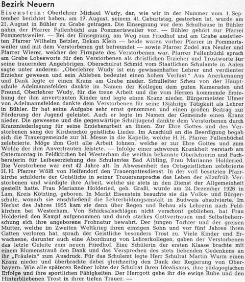 ... a nekrolog na stránkách krajanského časopisu