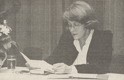 Při jednom autorském čtení rok poté, co obdržela Kulturní cenu krajanského sdružení za literaturu