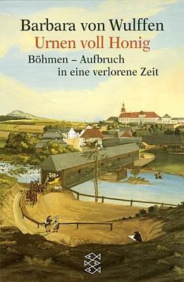 Obálka (2000) německého vydání knihy Urny plné medu uS. Fischer Verlag zachycuje Svojšín v údolí řeky Mže skrytým mostem přes ní