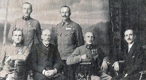 Johann Klier se syny Josefem, Antonem, Richardem, Hansem a Karlem