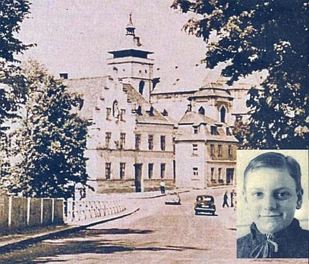Měšťanská škola v Boru u Tachova a on jako jedenáctiletý