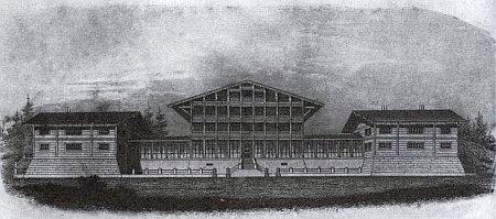Architektonická skica vilémovského zámečku