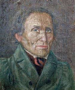 Autoportrét prapraprapraděda Ignaze Schramla (1762-1846), malíře z Volar, mj. autora obrazu Madony Stožecké, prozrazuje rysy tváře rodovou blízkost...