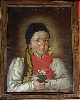 Osmdesátiletý už Ignaz Schraml vytvořil v roce 1842 tento obraz své vnučky Johanny v jejích devíti letech