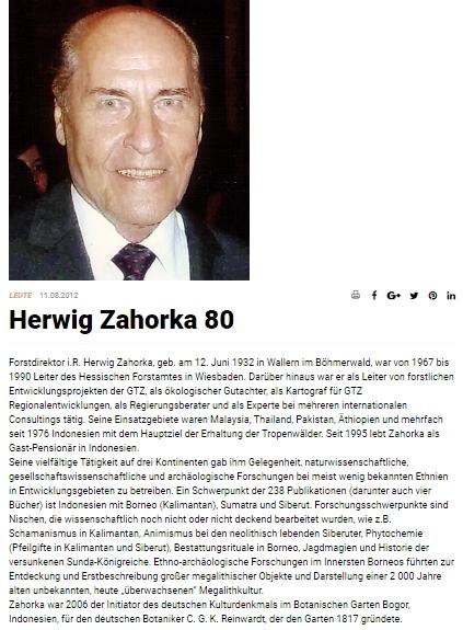Pozdrav k jeho osmdesátinám na lesnické webové stránce Forstpraxis.de
