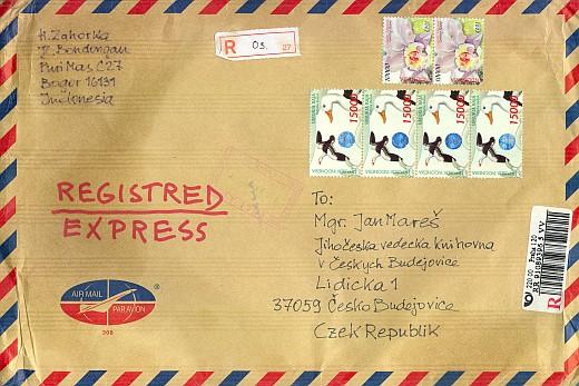 Obálka dopisu z Bogoru 2007