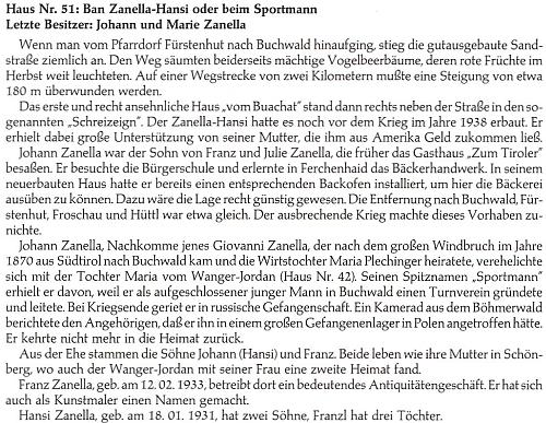 """Trochu podrobněji o domě Zanellových v Bučině čp. 51, zvaného také """"U sportovce"""""""