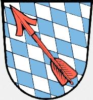 Znak městyse Schönberg, okres Freyung-Grafenau, kde zemřel