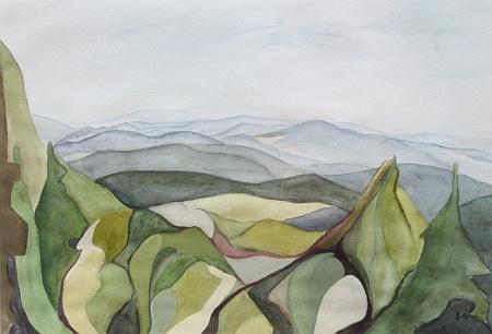 Bučina na dvou jeho obrazech z roku 1995