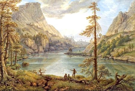 Obraz Ferdinanda Runka z roku 1801 nese název Pohled na Turrašské jezero