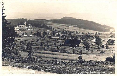 Ondřejov na staré pohlednici, foto Josef Seidel