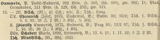 Tady figuruje na seznamu učitelů v Homolích jako absolvent učitelského ústavu v Praze roku 1895