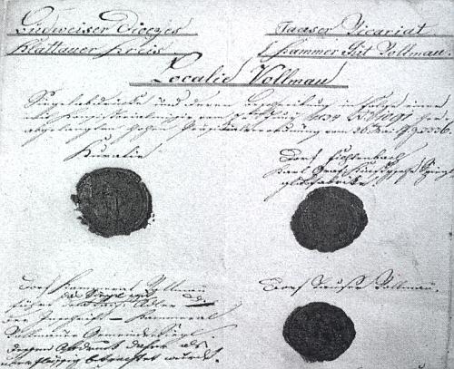 Dokument z roku 1782 o zřízení lokalie Folmava v budějovické diecézi