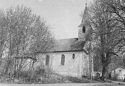 Kostel sv. Antonína v Horní Folmavě roku 1991