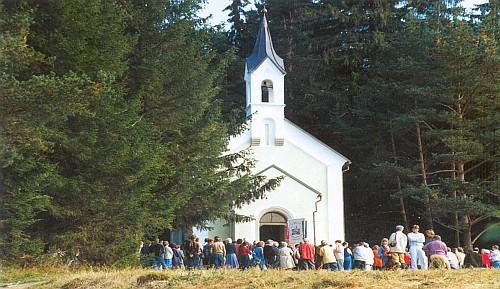 Září 1993 - znovuvysvěcení kaple Hohe Marter