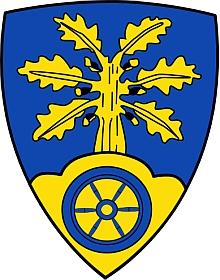 Znak dolnosaské obce Bohmte, kde v posledních letech života pobývala u své dcery