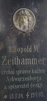 Hrob na českobudějovickém hřbitově u sv. Otýlie