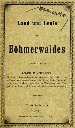 Obálka jeho knihy s předmluvou Karla Klostermanna (1896) as podpisem majitelovým, jímž byl nejspíše Adalbert Wodiczka či jeho bratr Ignaz
