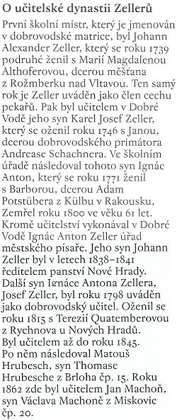 """Podrobně referuje o """"učitelské dynastii"""" Zellerů Alois Sassmann vesvé knize Kořeny"""