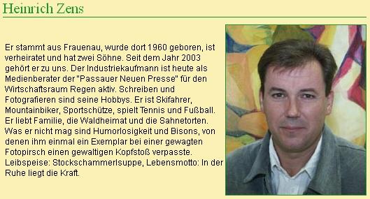 O něm na webových stranách časopisu Schöner Bayerischer Wald
