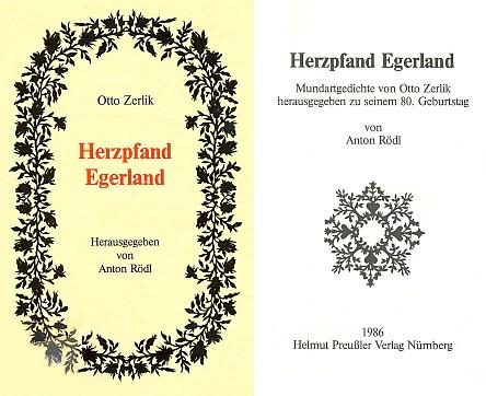 Obálka  a titulní list (1986) knihy vydané v Norimberku nakladatelstvím Helmut Preußler