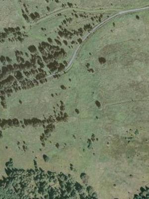 Zaniklé Vysoké Lávky na leteckých snímcích z let 1950 a 2008