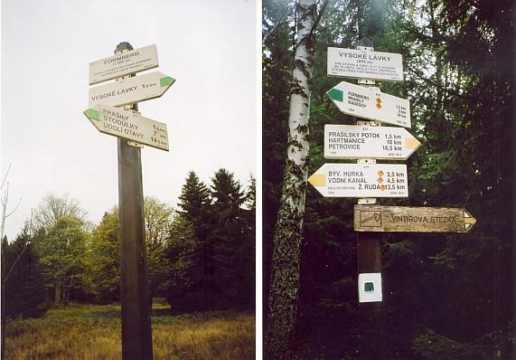 Jen turistické značky dávají dnes vědět o zaniklých osadách při Vintířově stezce