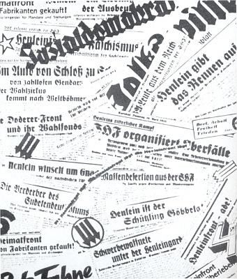 """Mnohá varování německého sociálně demokratického tisku v ČSR před Henleinovou """"domovskou"""" frontou (SHF)"""
