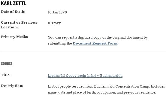 Záznam o záchraně Američany poté, co přežil Buchenwald