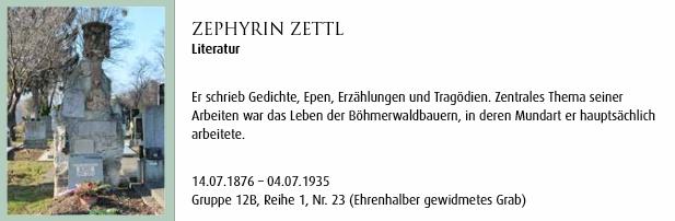 O jeho hrobě v publikaci o vídeňském Centrálním hřbitově