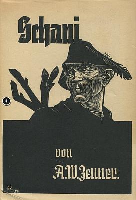 Obálka prvního vydání jeho knihy z roku 1939 (Kanter-Verlag) s kresbou Richarda Rothera