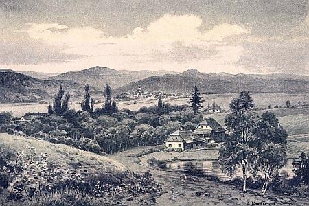 Pohled z Českého Heršláku do Čech - obraz Karla Liebschera