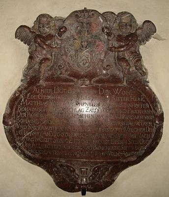 Náhrobek Matthiase von Muckhenberg ve farním kostele sv. Kateřiny ve Freistadtu