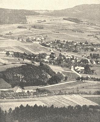 Mlýn Pfeffermühle, příslušející k obci Milence, je na tomto snímku zachycen vpředu