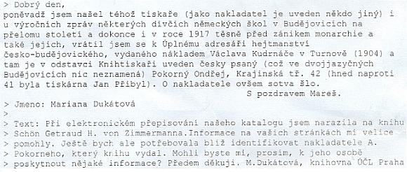 Dopis z Ústavu pro českou literaturu nalezl v Kohoutím kříži tuto odpověď