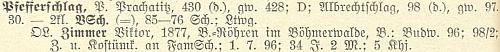 Záznam o Viktoru Zimmerovi v seznamu učitelstva německých škol vČechách (1928) z doby, kdy řediteloval v Libínském Sedle