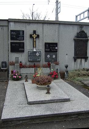 Hrob rodiny Zinkovy na českobudějovickém hřbitově u sv. Otýlie dnes patří rodině Dubských