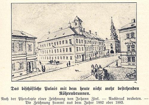 Pět jeho kreseb z budějovického Heimatbuchu i s uvedením letopočtů jejich vzniku