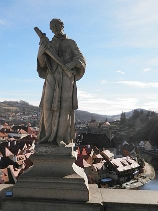 Sochy sv. Václava a sv. Jana Nepomuckého na Plášťovém mostě