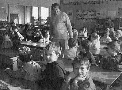 Mezi žáky prvních a druhých tříd školy v bavorském Haagu