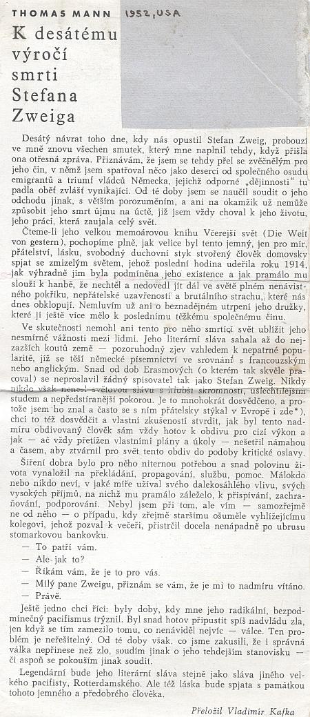 Toto o něm napsal Thomas Mann