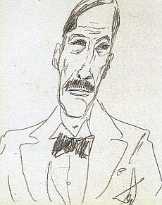 Na kresbě Alfreda Döblina z roku 1925